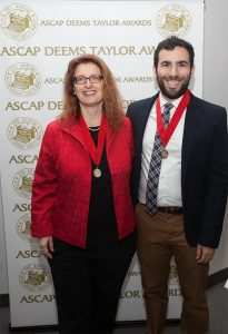 UNC-Chapel Hill's Will Robin and Annegret Fauser were honorees at the 46th annual ASCAP Foundation Deems Taylor/ Virgil Thomson Awards ceremony.