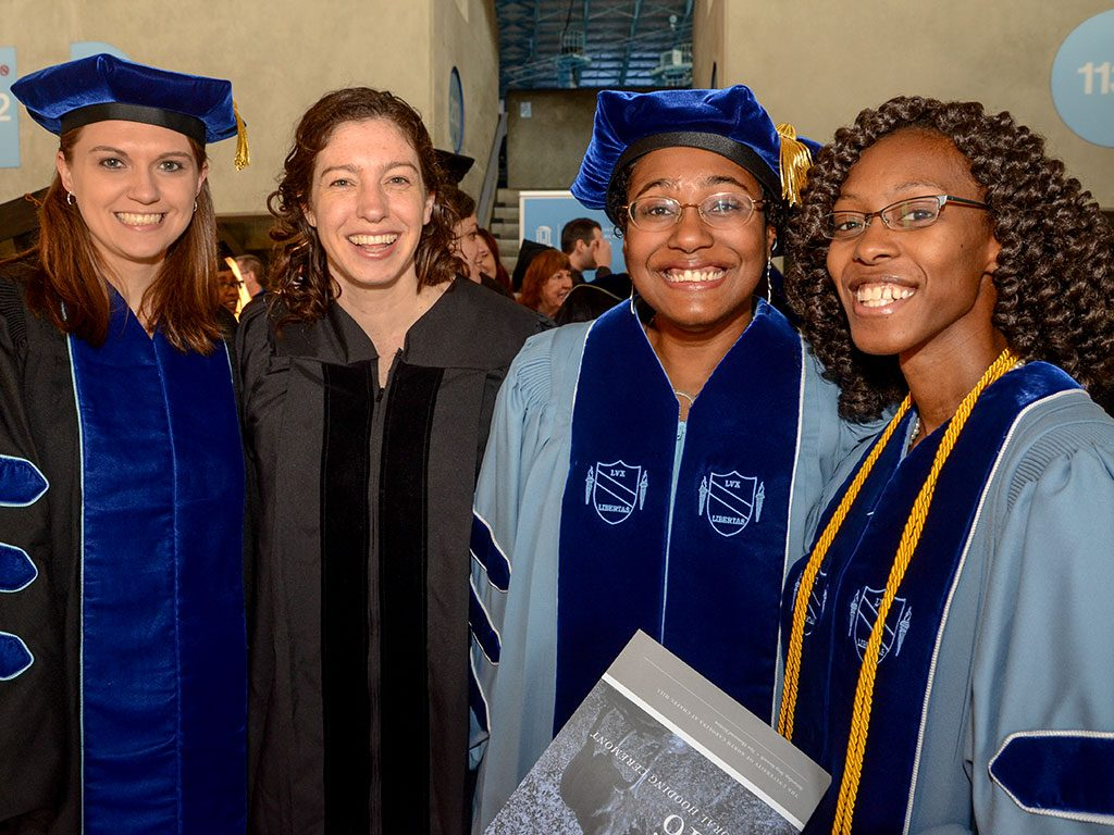 Group of students at Hooding Ceremony