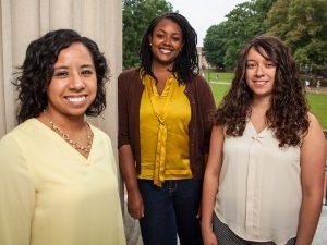Maria Duran, Leslie Adams and Jennifer Rangel are all first-generation graduate students at UNC-Chapel Hill.