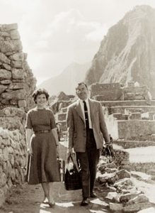 Charles and Shirley Weiss at Machu Picchu in 1958.