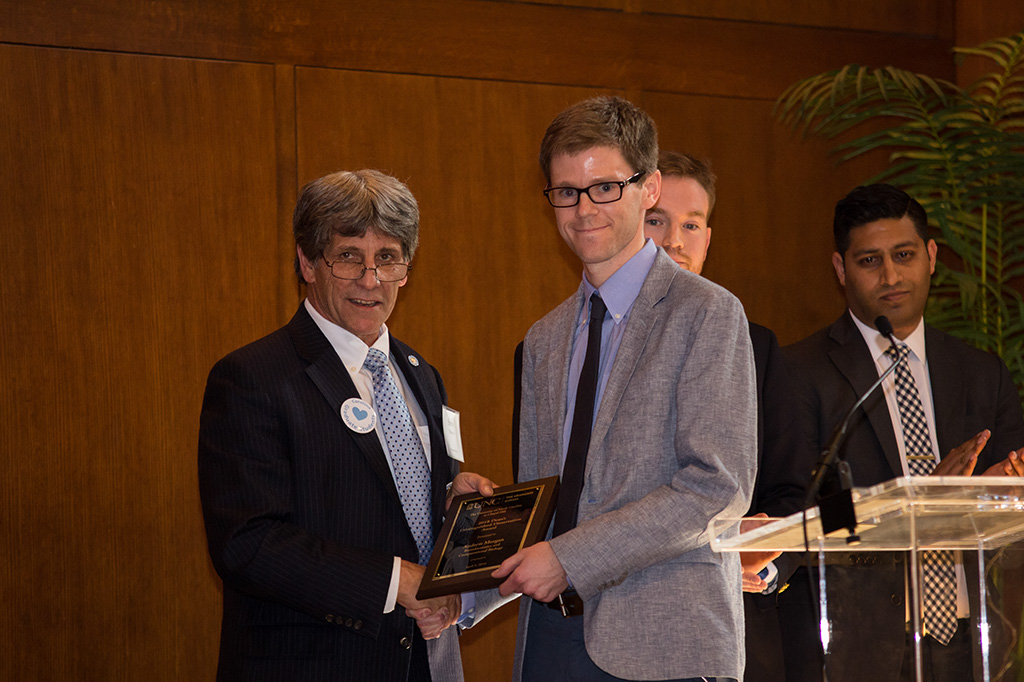 Andrew Morgan received the Dean's Distinguished Dissertation Award within Biological and Life Sciences.