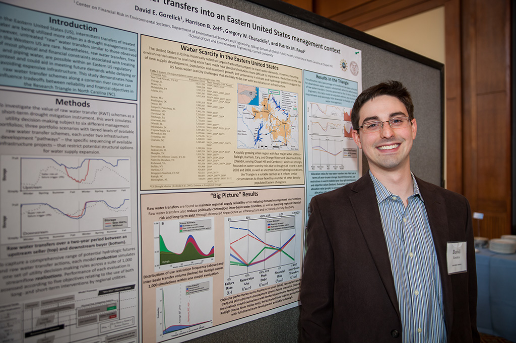 David Gorelick, Impact Award honoree, presented his research at the Graduate Student Recognition Celebration.