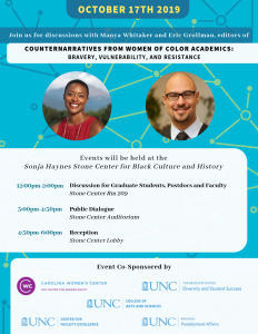 Counternarratives from Women of Color Academics: Bravery, Vulnerability, and Resistance, Oct. 17